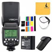 Godox V860ii-s Flash TTL 2,4 G HSS 1/8000 Batterie Lithium-ION pour Appareil Photo Flash Speedlite