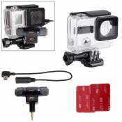 Wewoo Pour GoPro Hero 4 / 3+ 4 en 1 Microphone professionnel externe Kit Upgrade Edition