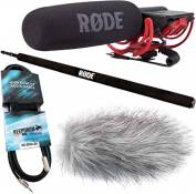 Rode videomic rycote kEEPDRUM perche micro boompole bundle wSWH jack mini coupe-vent 3 m