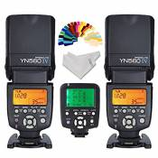 Yongnuo YN-560IV 2PCS Wireless Flash Speedlite kit + YN560-TX LCD Flash Trigger Remote Controller For Nikon DLSR Cameras+Inseesi clean cloth+20 Color