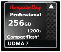 Komputerbay 256 Go Professional CARTE COMPACT FLASH CF 1200X WRITE 140 Mo / s en lecture 180 Mo / s Extreme Speed ​​UDMA 7 RAW 256 Go