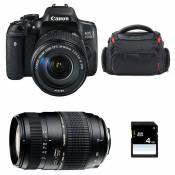 CANON EOS 750D + 18-135 IS STM + TAMRON 70-300 DI + Sac + SD 4Go