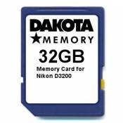 32GB Memory Card for Nikon D3200