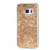 KSHOP Étui Case pour Samsung Galaxy A3 (2016) A310F Ultra-Mince Silicone Gel Housse Bling Glitter Coque de protection TPU Case Protection Cover Couvrir Pare-Chocs Anti-rayure Coquille Arrière - Or