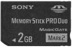 Sony Memory Stick Pro Duo Mark2 2 Go