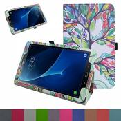 """TAB A 10.1 2016 Coque,Mama Mouth Slim Folio PU Cuir debout Fonction Housse Coque Étui Couverture pour 10.1\"""" SAMSUNG GALAXY TAB A 10.1 T580N T585N Android Tablet 2016,Love Tree"""