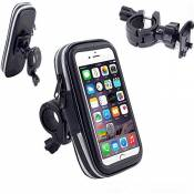 VSOAIR Bicycle Mount Holder, 360 Degrés Tournant Waterproof Bicyclette ou Moto Poignée Barre de Montage Sacoche étui Holster pour iPhone 7 / iPhone 6
