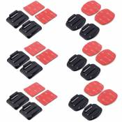 XCSOURCE® 12 pcs plat Supports et courbé Supports + 3M adhésif Tapis Set pour Gopro Hero 3+ 3 2 1 OS180