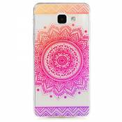 KSHOP Etui cas TPU silicone pour Samsung Galaxy A5(2016)A510 Coque Case Cover Housse de protection Shell avec mince motif d'impression - iindisches Holy Flower Mandala Rose