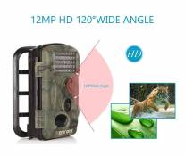 Crenova Caméra de Chasse 12 MP 1080P HD Grand Angle 120° 20m Vision Nocturne Infrarouge Waterproof