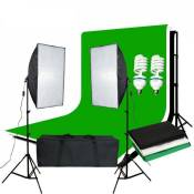 Abeststudio Studio Softbox Continuous Lighting Kit Stand Backdrop Lamp