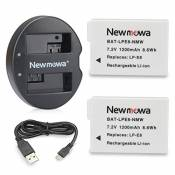 Newmowa Double USB Chargeur + 2 Remplacement Batterie LP-E8 pour Canon LP-E8 et Canon EOS 550D 600D 650D 700D EOS Rebel T2i T3i T4i T5i