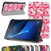 """GALAXY TAB A 7.0 Ultra Slim Coque,Mama Mouth Ultra Slim PU Cuir debout Fonction Housse Coque Étui Couverture pour 7\"""" SAMSUNG GALAXY TAB A 7.0 T280 T285 Android Tablet,Dream heart"""