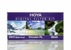 Hoya Digital Filter Kit - Ensemble de filtres - UV. CIR PL.NDX8 58MM