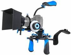 SunSmart DSLR Rig Kit Movie épaule Mont Rig avec Follow Focus et poignée supérieure pour tous DSLR et vidéo Caméscopes