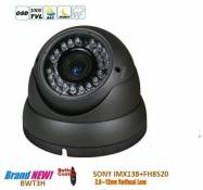 BW? CCTV Camera SONY IMX138 1000TVL HD Day and Night 2.8-12mm Vari-Focal Korea Grey Dome Camera With IR-CUT function Outdoor or Indoor Use