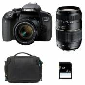 CANON EOS 800D + 18-55 IS STM + TAMRON 70-300 DI + Sac + SD 4Go