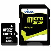 Vida IT Nouvelle 4Go Carte mémoire Micro SDHC pour Alcatel - OT-800 One Touch Tribe - OT-802 Wave - OT-803 - OT-806 Téléphone Mobile - Tablette PC - G