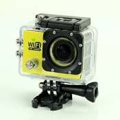 Hot 5,1 cm LCD Full HD 1080p Grand Angle 170 ° étanche Wifi 30 m Go Pro Style Jaune Gogloo5fpv casque Sport Cam