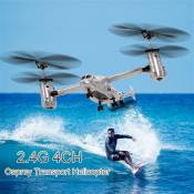 Goolsky Osprey Helicopter 2.4G 4CH Dual Axis RC Drone avec double gyroscope et lampe frontale pour enfants