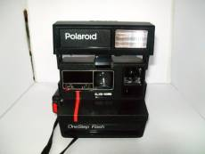 Polaroid One Step éclair 600 Instant Camera Red Stripe