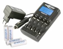 ANSMANN Powerline 4 Pro Chargeur pour 1 à 4 piles rechargeables AA, AAA + 4 Eneloop AA batteries