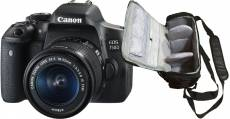 Canon EOS 750D reflex 18 mpix + objectif Canon EF-S 18-55mm f/3.5-5.6 IS STM + sac photo professionnel