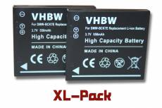 vhbw set de 2 batteries 550mAh pour appareil photo Panasonic Lumix DMC-FH2, DMC-FH2A, DMC-FH2K, DMC-FH2P
