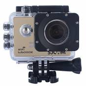 Sjcam Original Sj5000X Wifi Waterproof Action Camera with 12MP SONY IMX078 Gyro AV or HDMI Out And OSD Enabled (Gold)