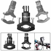 Fantaseal® Guidon Support Réglable, Fixation Vélo Moto Universel Bicycle Support Rotation à 360 ° O-Forme Caméra Support pour GoPro Hero 5 Black/ Hero4 /3+/3/ Session Garmin Akaso Apeman Xiaomi Yi etc-Noir