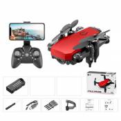Drone ATOUP LF606, Caméra Grand Angle 1080p - 2 batteries - Rouge