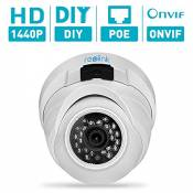 Reolink RLC-420 4MP(1440p) HD Fixed Lens PoE Dome Outdoor Security IP Camera for Home Surveillance, with Night Vision, Motion Detection, Plug and Play