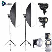 PHOTO MASTER Softbox Kit Eclairage Studio Photo 720W 2 Soft Box 70x100cm Lumière Continue 5500K Photo de Mode Portrait Produits Commerciaux Packshot V