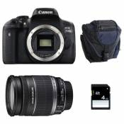 CANON EOS 750D + 18-200 IS + Sac + SD 4Go