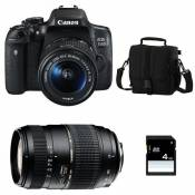 CANON EOS 750D + 18-55 IS STM + TAMRON 70-300 DI + Sac + SD 4Go