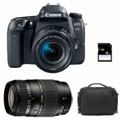 CANON EOS 77D + 18-55 IS STM + TAMRON 70-300 DI + Sac + SD 4Go