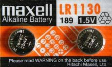 Maxell Lot de 2 G10A KA54 LR54 LR1130 L1131 189-1 189 V10GA RW89 D189 GP89A 390A AG10 389A alcalines 1,5 V pour appareils photo/jouets/calculatrices/l