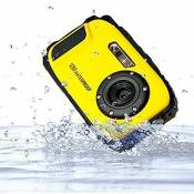 Stoga CGT002 2,7 pouces LCD appareil photo num¨¦rique 16MP cam¨¦scope ¨¦tanche cam¨¦ra Zoom vid¨¦o magn¨¦toscope + 8 X Zoom Free Shipping Action Cam-Jaune