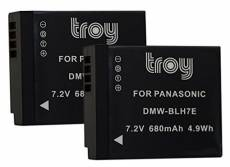 Troy Lot DE 2 Batteries DMW BLH7 DMW BLH7E pour Panasonic Lumix DMC-GM1 DMC-GM5
