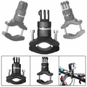 Fantaseal® Support Guidon Réglable, Fixation Vélo Moto Universel Bicycle Support Rotation à 360 ° O-Forme Caméra Support pour GoPro Hero 5 Black/ Hero4 /3+/3/ Session Garmin Akaso Apeman Xiaomi Yi etc-Noir