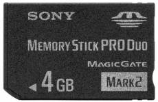 Sony Memory Stick Pro Duo Mark2 4 Go