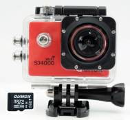 QUMOX SJ4000 WiFi Action Sport caméra étanche Full HD 1080p Video Helmcaméra rouge + 32GB micro SD