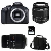 CANON EOS 1300D + 18-55 IS II + SIGMA 70-300 DG MACRO + Sac + Carte SD 4 Go