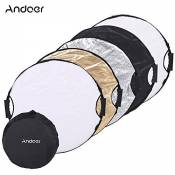 Andoer 110cm 5in1 Round Collapasible Multi-Disc Portable Circular Photo Photography Studio Video Light Reflector