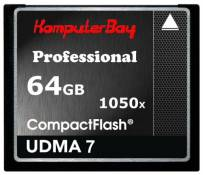 Komputerbay 64GB Professional CARTE COMPACT FLASH CF 1050X écrire 100 Mo / s en lecture 160 Mo / S Extreme Speed ​​UDMA 7 RAW 64 Go