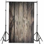 Generic 1.5m * 1m Photographie Sol en bois Backdrop bébé Photo Studio Fond mur