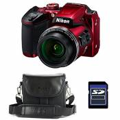 Nikon Bridge Coolpix B500 Rouge + Etui + Carte SD 4 Go