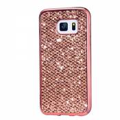 KSHOP Etui pour Samsung Galaxy A5 (2015) Bling TPU Gel Coque Ultra Mince Case Cover avec Cadre de Galvanoplastie Telephone Portable Soft Housse Cas Prime Flex Silicone Shell Coquille Couvrir Coverture Pare-Chocs Anti-Choc Skin Protection Bumper - Or Rose
