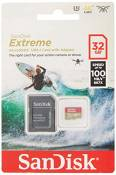 SanDisk Extreme 32GB microSDhC Memory Card for Action Cameras & Drones with A1 App Performance up to 100MB/s, Class 10, U3, V30