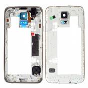 BisLinks® Silver Rear Chassis Back Frame Bezel Répair for Samsung Galaxy S5 IIIII i9600